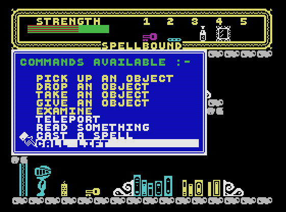 Spectrum Back to Skool Screen in Back 2 Skool